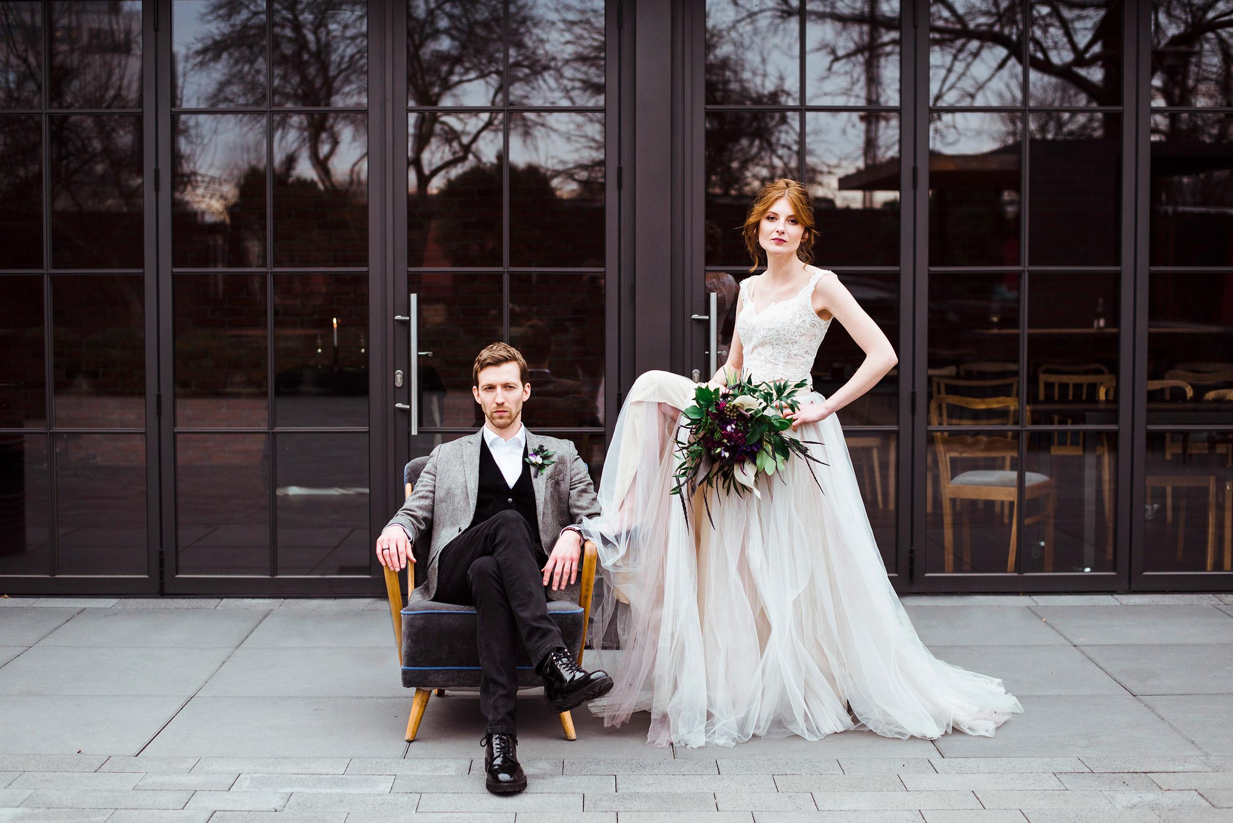 industrialne wesele w restauracji warsztat wroclaw - sesja stylizowana