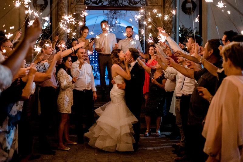 wesele w palacu mojecice - fotoreportaz slubny - zimne ognie