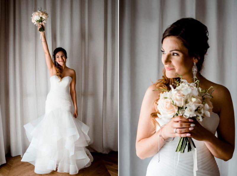 wesele w palacu mojecice - portret panny mlodej - naturalna fotografia slubna