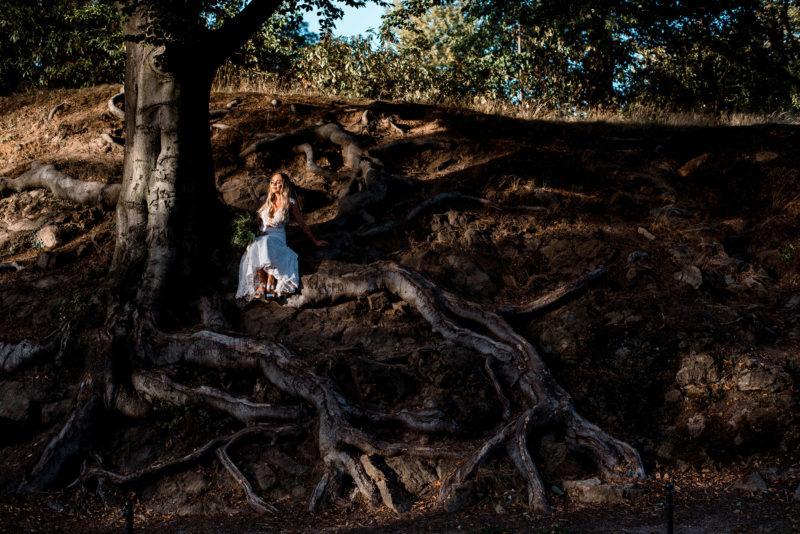 sesja slubna - park krajobrazowy ksiaz - oryginalna fotografia slubna